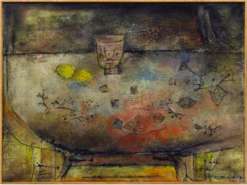 赵无极 《圆桌静物》 60×81.5cm 油画画布 1953  成交价:1930万港元      此外,虽不在TOP10之内,但仍过千万级别的国内作品还有: