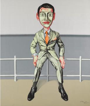 曾梵志 《面具系列6号》 149.7×129.7cm 油画画布 2000  成交价:970万港元