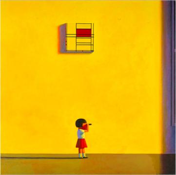 刘野 《下午的蒙德里安》 160×160cm 亚克力画布 2001  成交价:802万港元      成交的中国当代艺术拍品主要集中在300万港元内的价位区间: