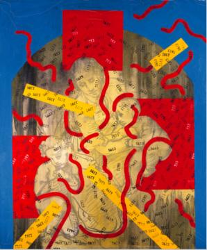 王广义 《圣母与子》 119×99.5cm 油画画布 1989  成交价:212.5万港元