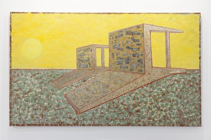 毛旭辉 《永远•倒在红土上的两把椅子》180x300cm布面油画 2011.6-2015.11
