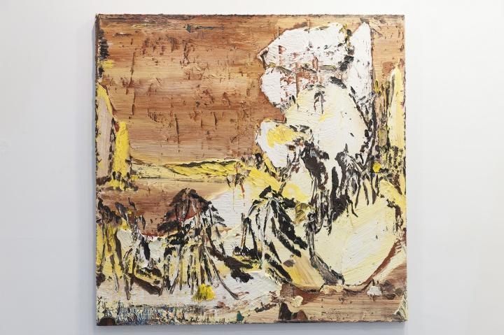 尹朝阳《江湖》180x180cm 布面油画2017