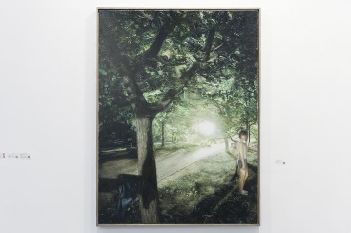 王岱山《公园之七》175×130cm 布面油画 2016
