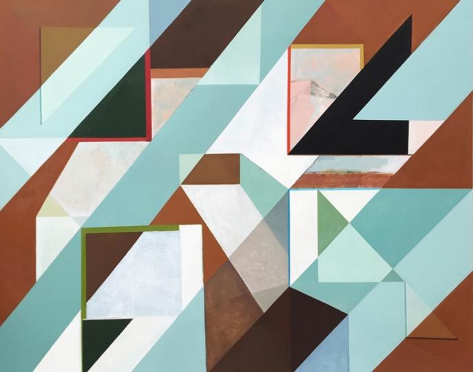 《折射》150x120cm布面油画 2016