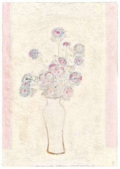 Lot133 常玉 《白瓶粉红菊》100 x 70.6cm 油彩画布 1931 估价:HKD 40,000,000 - 60,000,000