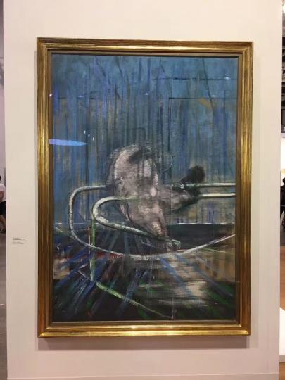 以及全场唯一一件培根《Crouching Nude》196.9×136.5cm 布面油画 1952