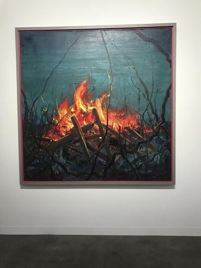 香格纳画廊此次最贵的中国艺术家作品,曾梵志油画新作《火》以700万元人民币售出