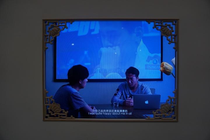 艾可画廊陶辉《我们共同的形象》是受到关注最多的一件作品,也是陶辉参加2016年上海双年展的新作,标价8.5万元人民币