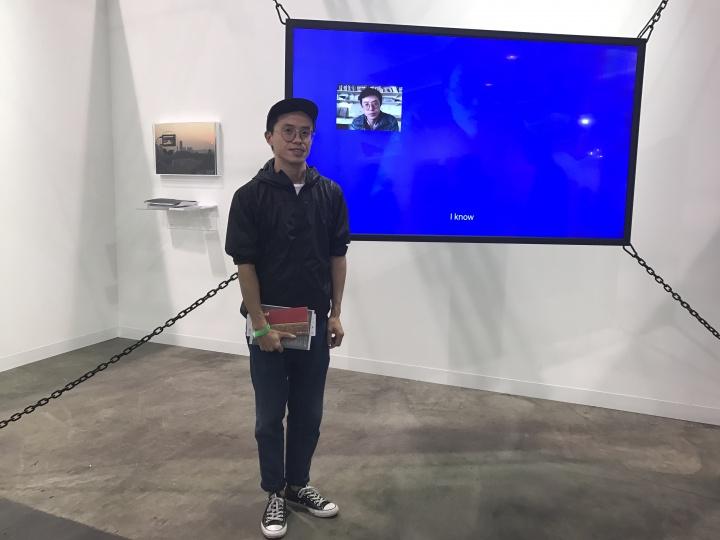 上海的BANK画廊在艺术探新单元,将前不久在画廊举行的林科个展在艺博会进行了缩小版的再现