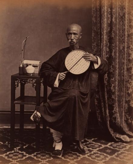 阿芳 《状师》21×27cm蛋白照片 1861 -1870