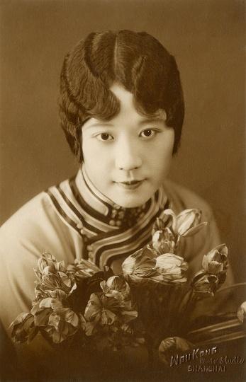 王开照相馆《关紫兰肖像照》14x9cm银盐纸基1930s