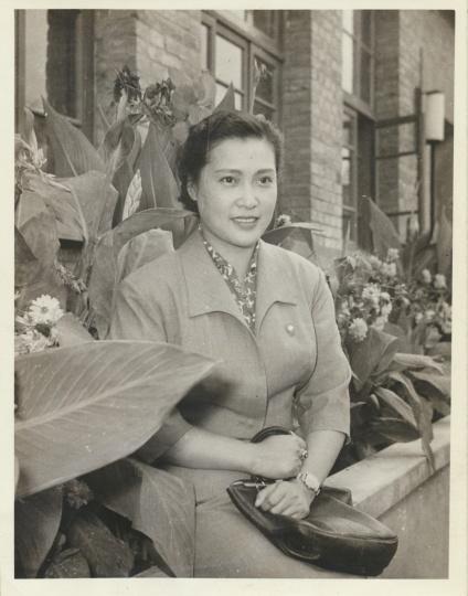 新华社《秦怡》12x9.3cm银盐纸基1957