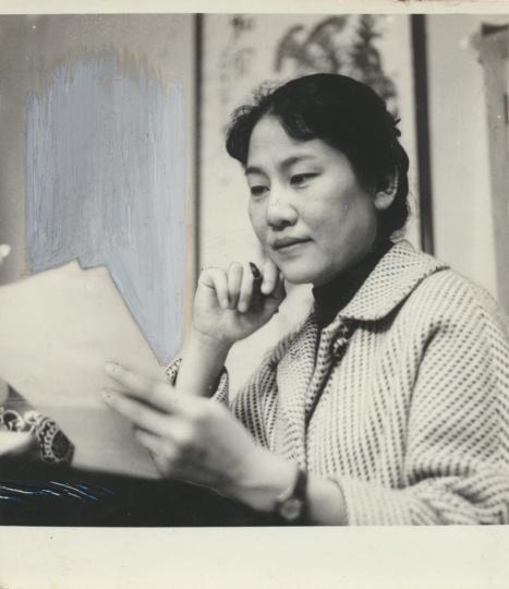 新华社《电影演员张瑞芳》7.6x7.8cm银盐纸基1963