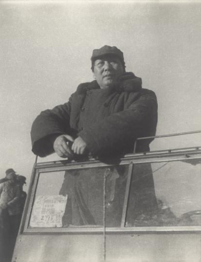 高帆《毛泽东在西苑阅兵》29.5x23.5cm银盐纸基1949