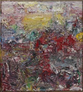 《2014抽象作品w22号》 145x130cm 布上油画 2014