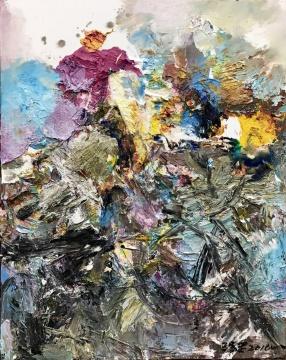 《抽象作品Z19》100x80cm布面油画2015