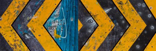 《隐匿自由》 640×210cm 布面油画 2017