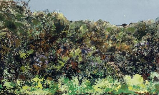 洪凌 《故园》 150×250 cm油彩画布2003-2006  估价:HKD 1,250,000 - 1,850,000