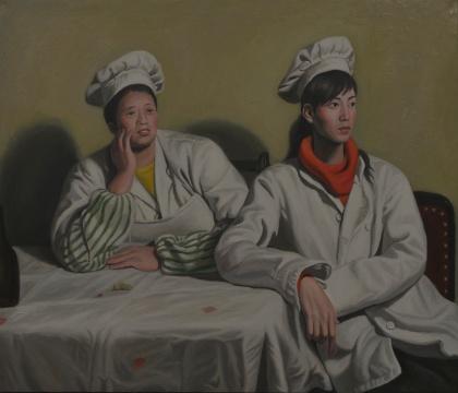 小林2,100x120cm,布面油画,2017