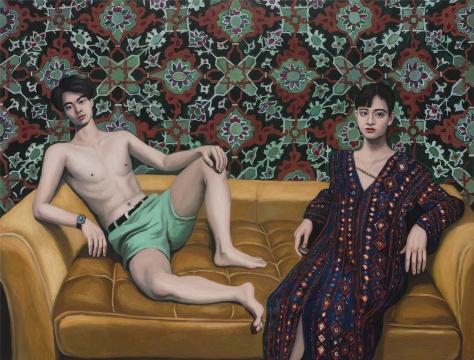 阿拉伯长袍 170x220cm,布面油画,2016