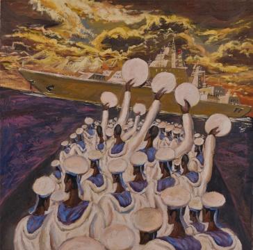 小告别,布面油画,80×80cm,2015