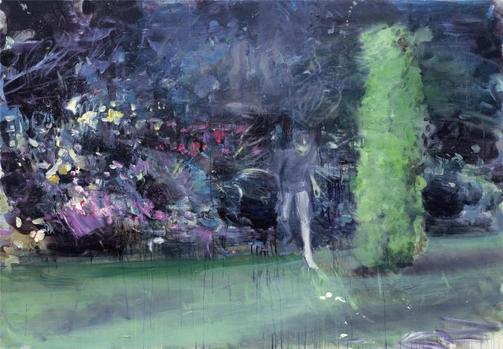韋嘉,《遺少》, 2016, 丙烯畫布, 190x270cm
