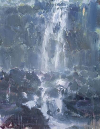 韋嘉,《河流》, 2016, 丙烯畫布, 185x145cm