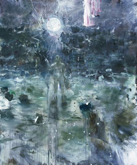 韋嘉,《遲年急景》, 2016, 丙烯畫布, 225x185cm