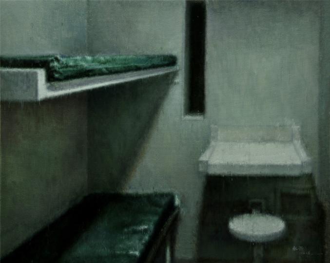 白桌子 The white table 布面油画 Oil on canvas 80x100cm 2012
