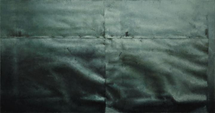 不平 Not flat 布面油画 Oil on canvas 80x150cm 2016