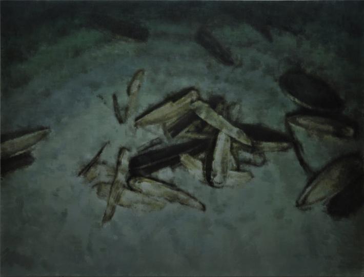瓜子 Melon seeds 布面油画 Oil on canvas 150x200cm 2016