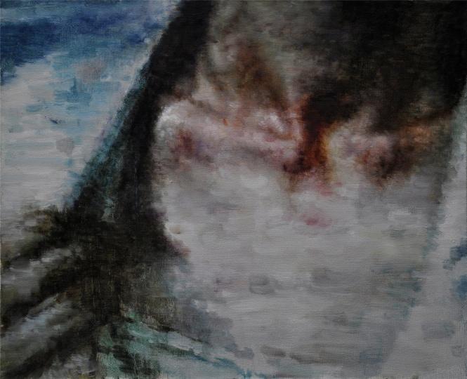 看看 Look 布面油画 Oil on canvas 50x60cm 2014