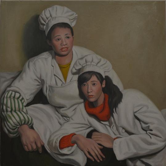 小林1,100x100cm,布面油画,2017