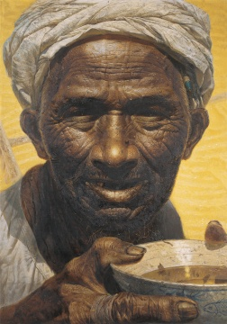 罗中立 《父亲》 215×150cm 布面油画 1980 中国美术馆藏
