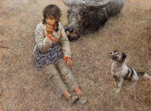 何多苓 《春风已经苏醒》 96×130cm 布面油画 1981 中国美术馆藏