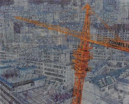 张杰 《造城》 160×200cm 布面油画 2014