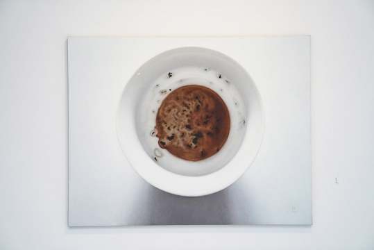 朱昱《茶渍 NO.5》180 x 140 cm 布面油画 2009