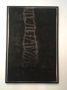 《天梯》193.5×130cm 墨,宣纸,纱布,高丽纸1992