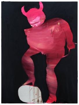 马轲 《掘墓鞭尸之二》布面油画 200cm×150cm 2017