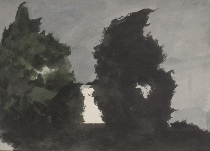 《风》30×40cm 纸板丙烯 2007