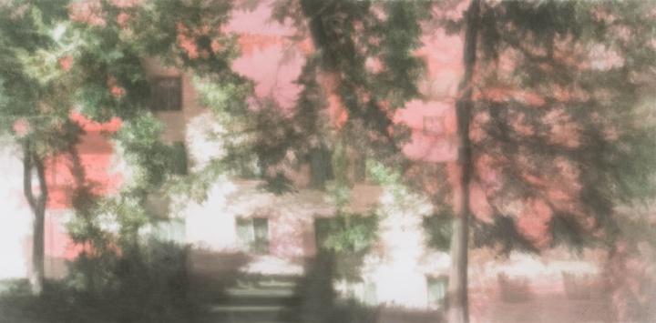 《光的记忆》182×368cm 纸板丙烯 2016-2017