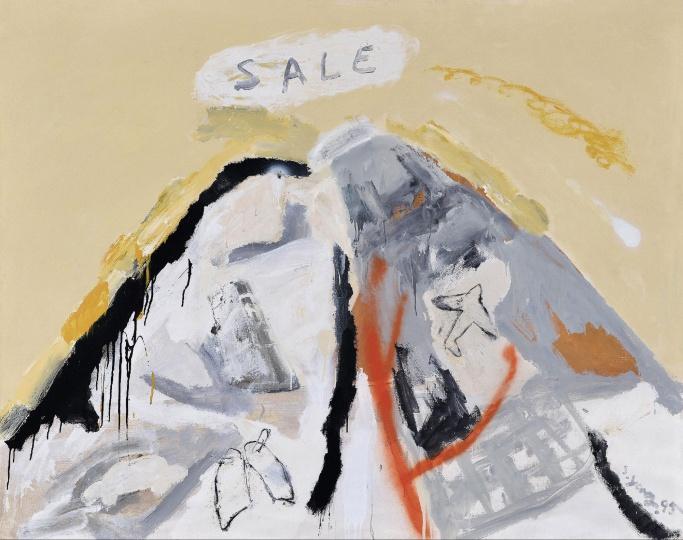 Lot 4565 尚扬 《SALE》 153×192cm 布面油画、丙烯 1995 估价:500万-600万元