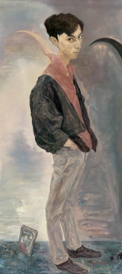 Lot 4571 毛焰 《X的肖像》 200×100cm 布面油画 1996 估价:800万-1200万元