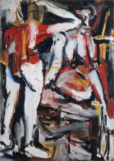 Lot 4566 曾梵志 《叙述:画家与模特之二 布面油画》 117×83cm 布面油画 1992 估价:300万-400万元