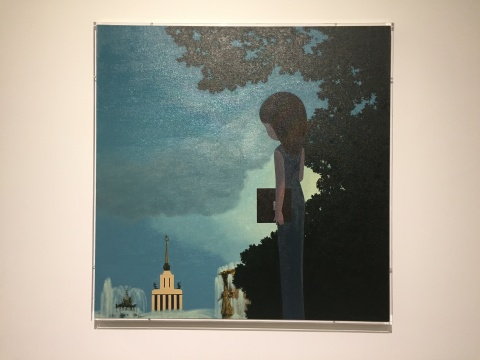 杨洋 《1990 》布面油画 110×110cm 2016