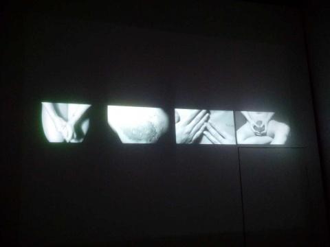 小展厅的影像作品