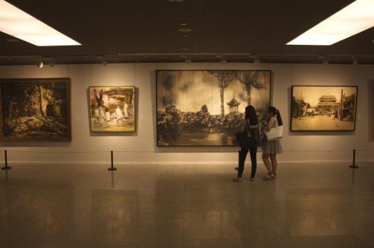 """""""文脉传薪""""中国美术馆开展 ,写意油画呈现中国精神"""
