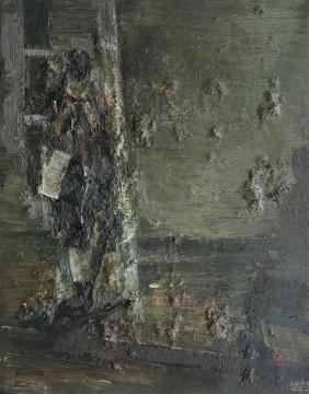 张冬峰《等待》40x50cm油画 2016