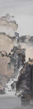 徐里《山泽隐默》160X50cm 油画2012