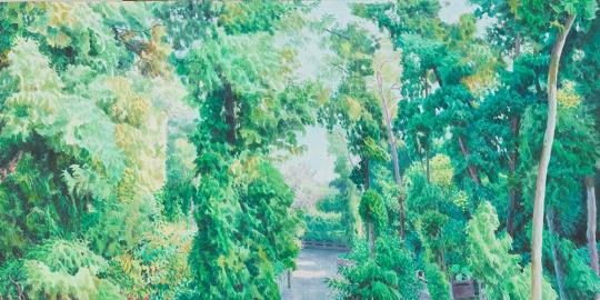 《小树林4 》50x100cm布面油画 2016